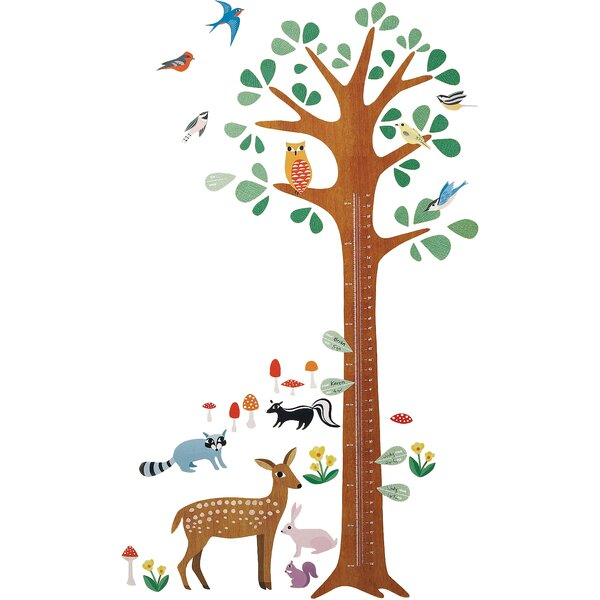 Woodland Growth Chart Interactive Wall Decal by Wallies