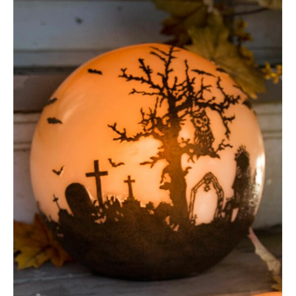 Halloween Glowing Luminary Globe by Plow & Hearth