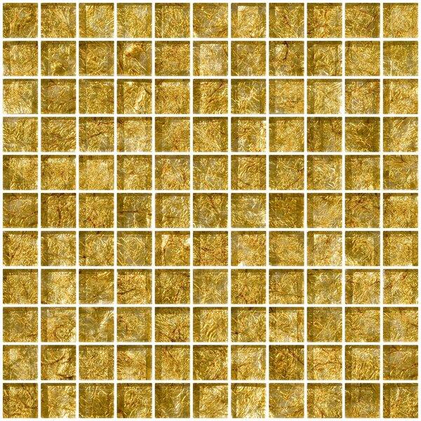 1 x 1 Glass Mosaic Tile in Golden Opal by Susan Jablon