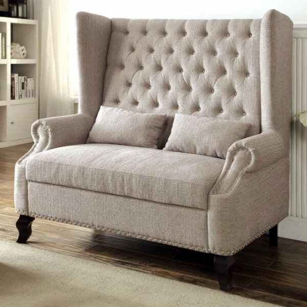 Robey Romantic Loveseat by Charlton Home