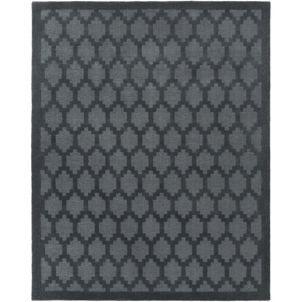 Bracey Hand-Loomed Denim Area Rug by Wrought Studio