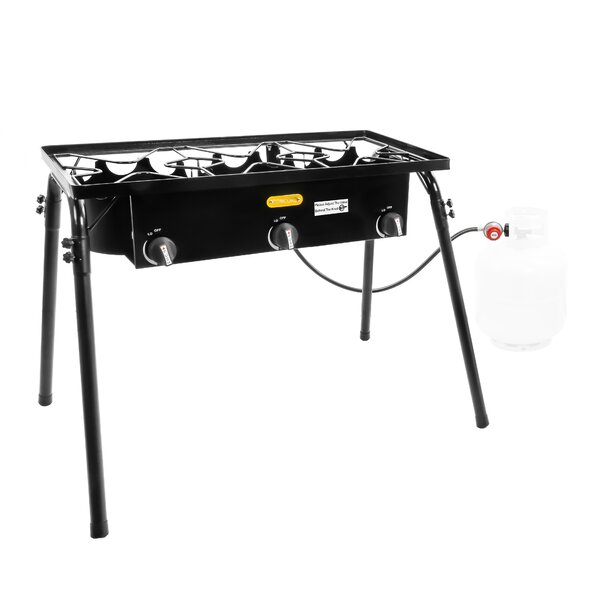Triple Burner Outdoor Stand Stove Cooker by Concord Cookware