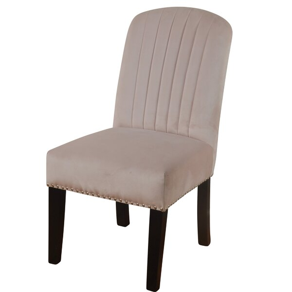 Iacovelli Channel Back Upholstered Dining Chair by Charlton Home
