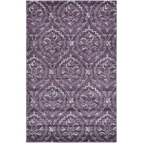 Ezequiel Purple Area Rug by Bungalow Rose