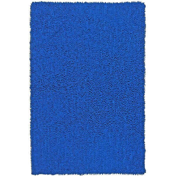 Baugh Shag Chenille Neon Blue Area Rug by Ebern Designs