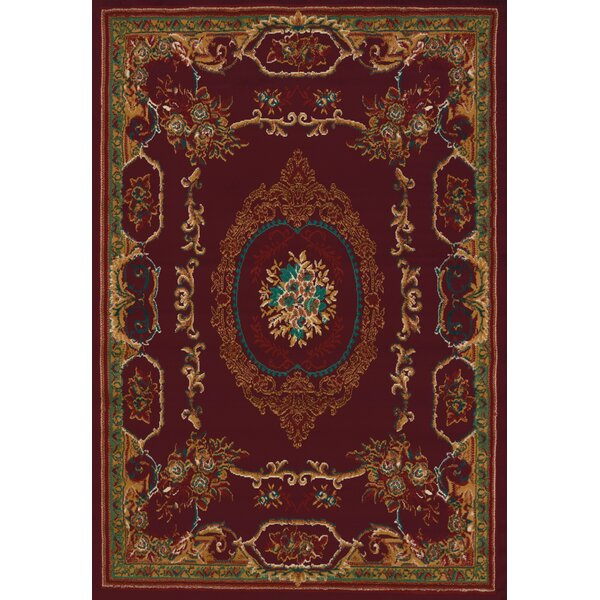 Randalstown Burgundy Area Rug by Three Posts