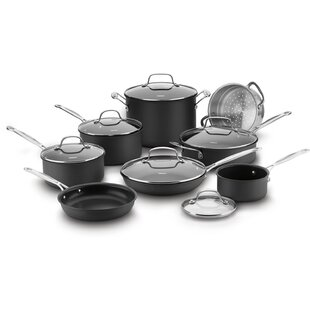 14 Piece Chefs Classic Hard Anodized Non-Stick Cookware Set ByCuisinart