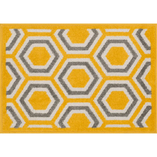 Laudenslager Yellow Area Rug by Ebern Designs