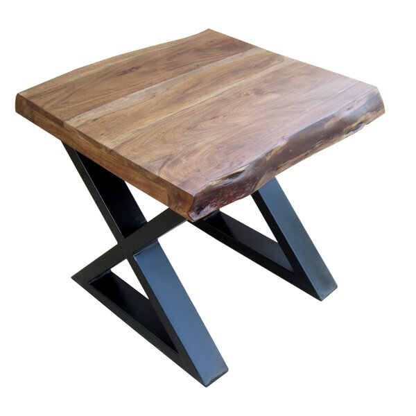 Krysta X/Cross Legs End Table by Williston Forge