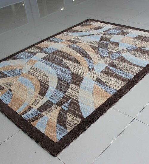 Blue/Beige Area Rug by Rug Tycoon