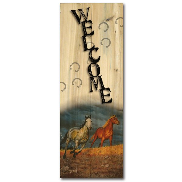 Welcome Lightning Graphic Art Plaque by WGI-GALLERY