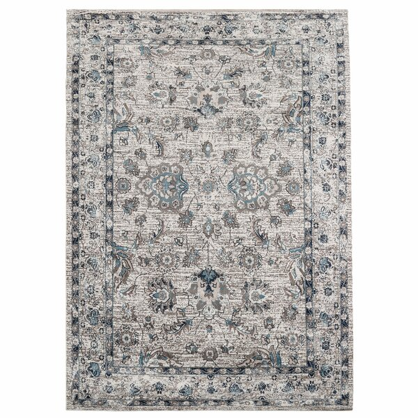 Bluebell Abstract Distressed Gray/Blue Area Rug by Alcott Hill