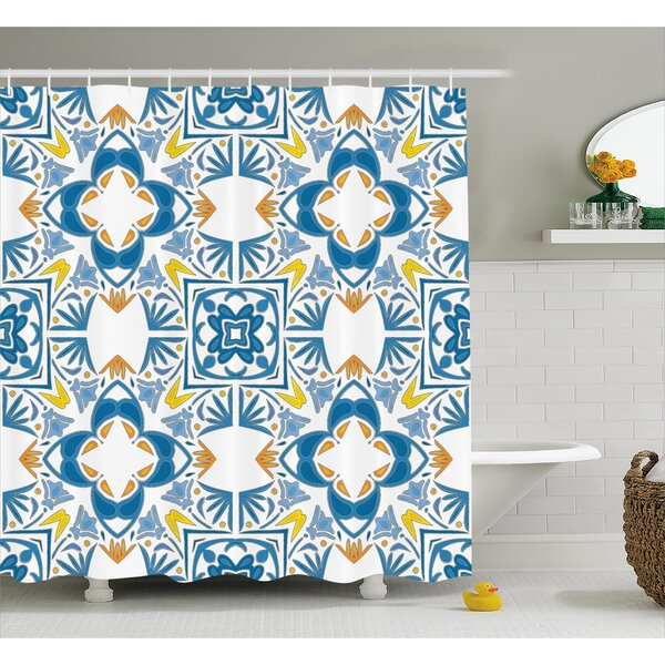 Tunisian Mosaic Decor Shower Curtain by East Urban Home