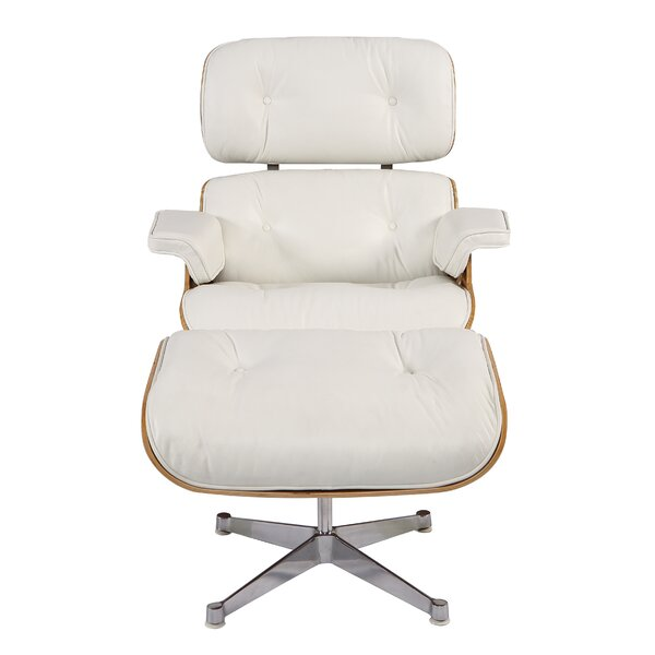 Sandiford Mid Century Lounge Chair and Ottoman by Orren Ellis