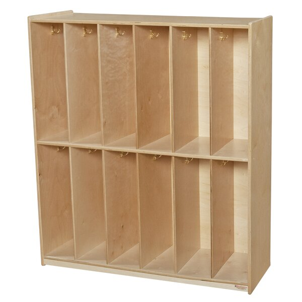 2 Tier 6 Wide Coat Locker by Wood Designs