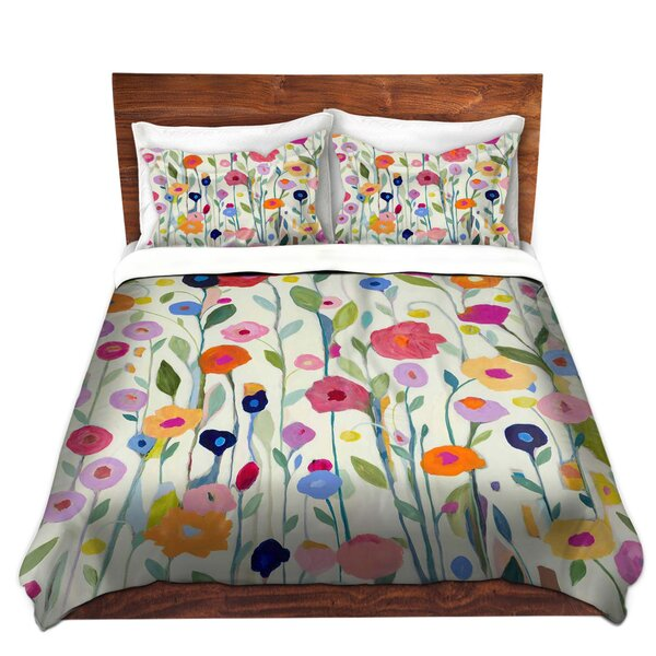 Gentle Soul Flowers Duvet Cover Set by East Urban Home