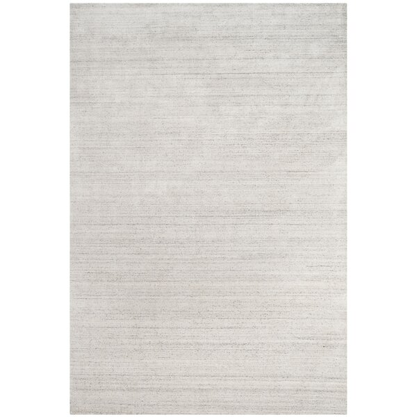 Wald Hand-Woven Silver Area Rug by Mercer41