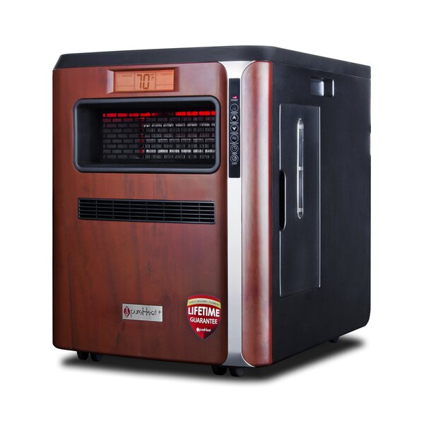 PureHeat 5,200 BTU Portable Electric Infrared Cabinet Heater by GreenTech Environmental