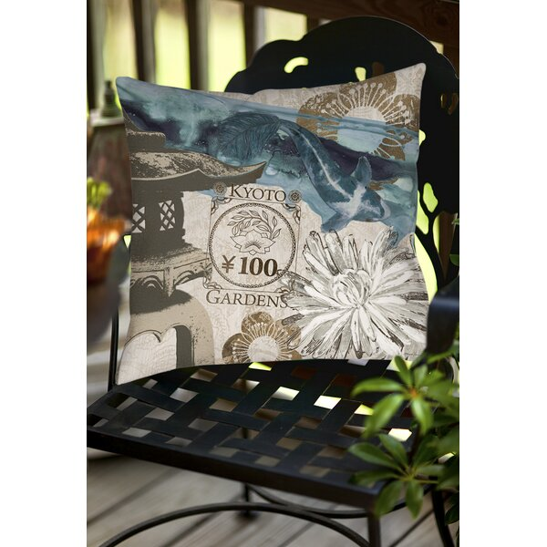 Meditation Gardens 2 Indoor/Outdoor Throw Pillow by Manual Woodworkers & Weavers