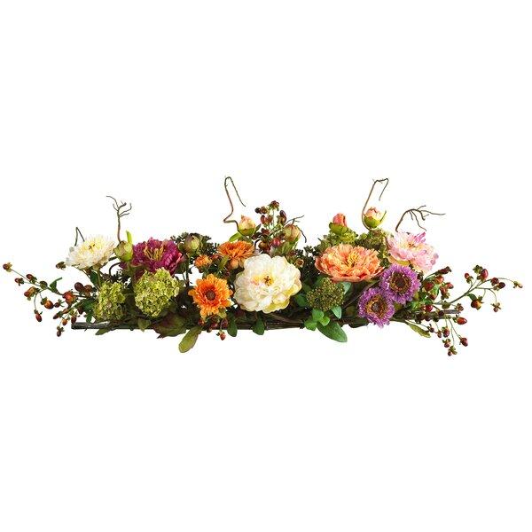 Silk Flower Mixed Peony Centerpiece by August Grove