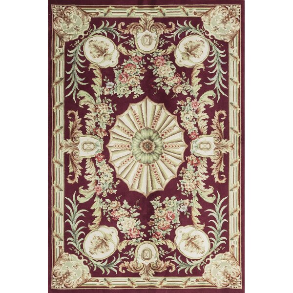 One-of-a-Kind Handwoven Wool Red/Ivory Indoor Area Rug by Bokara Rug Co., Inc.