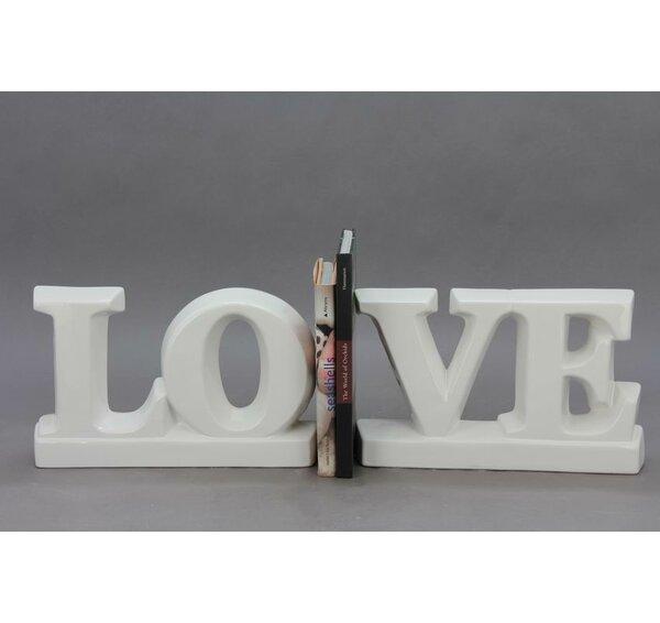 2 Piece Love Bookends Set by Drew DeRose Designs