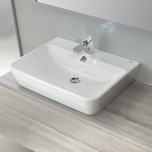 Compare Emma Vitreous China 22 Wall Mount Bathroom Sink with Overflow By Bissonnet