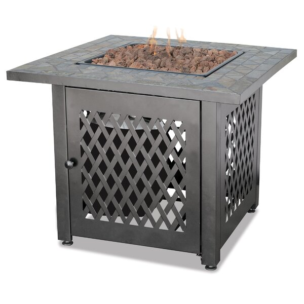 Uniflame Slate LP Gas Outdoor Fire Pit Table by Blue Rhino