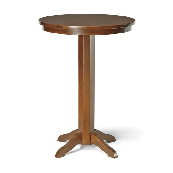 Pub Table and Stools Solid Wood Dining Set by Winston Porter Winston Porter