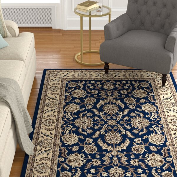 Weiser Navy Blue Area Rug by Astoria Grand