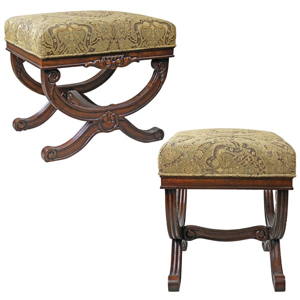 Classical Curule Ottoman Vanity Stool (Set of 2) by Design Toscano