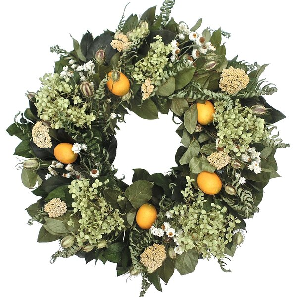 22 Lemon Wreath by Dried Flowers and Wreaths LLC