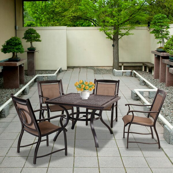Davy 5 Piece Dining Set by Fleur De Lis Living