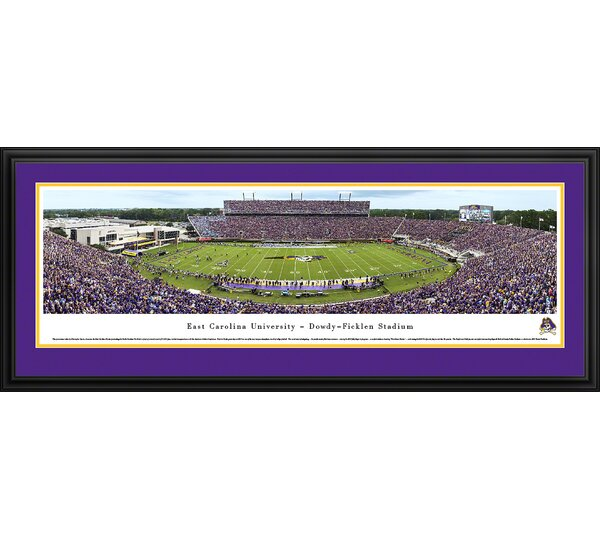 NCAA East Carolina University by Christopher Gjevre Framed Photographic Print by Blakeway Worldwide Panoramas, Inc