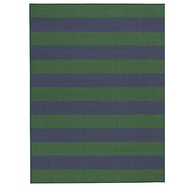 Wiegand Navy/Green Area Rug by Breakwater Bay