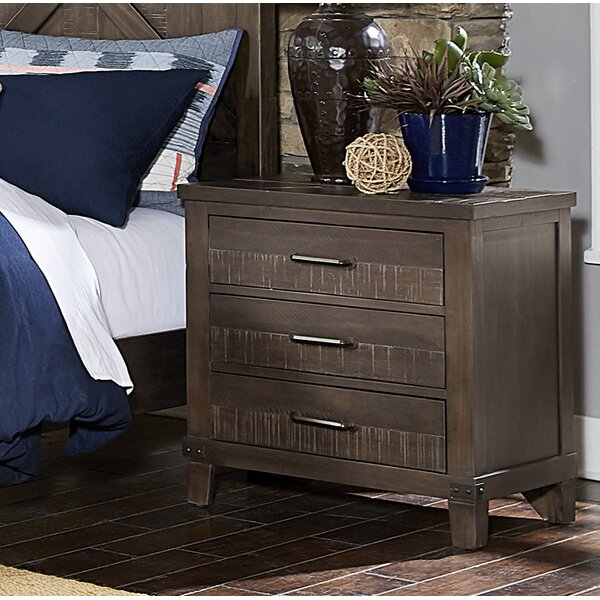 Bayaud 3 Drawer Nightstand by Gracie Oaks