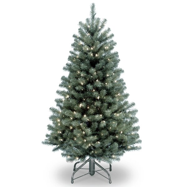 North Valley Blue Spruce Artificial Christmas Tree with Clear Lights with Stand by National Tree Co.
