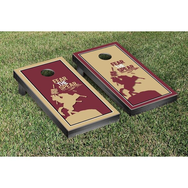 NCAA Florida State FSU Seminoles Fear The Spear Version Cornhole Game Set by Victory Tailgate