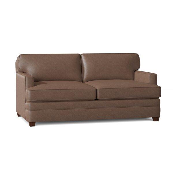 Persea Leather Sofa By Ebern Designs
