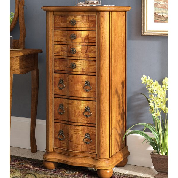 Darmstadt Jewelry Armoire with Mirror by Fleur De Lis Living