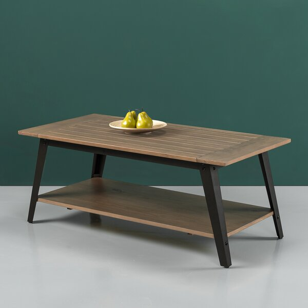 Cardoso Wood and Metal Coffee Table by Williston Forge Williston Forge