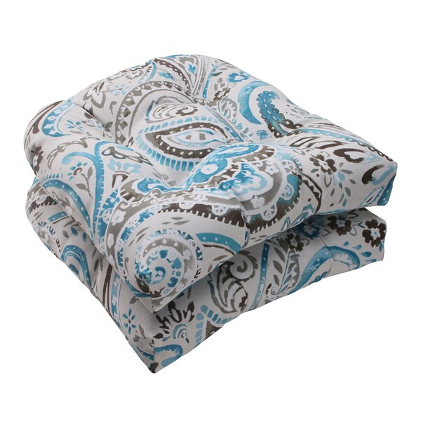 Paisley Indoor/Outdoor Seat Cushion (Set of 2) by Pillow Perfect