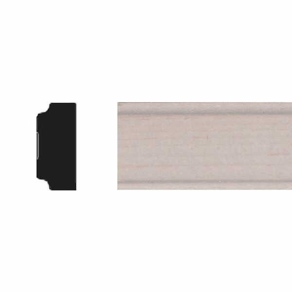 11/32 in. x 3/4 in, x 4 ft. Basswood Panel Moulding by Manor House