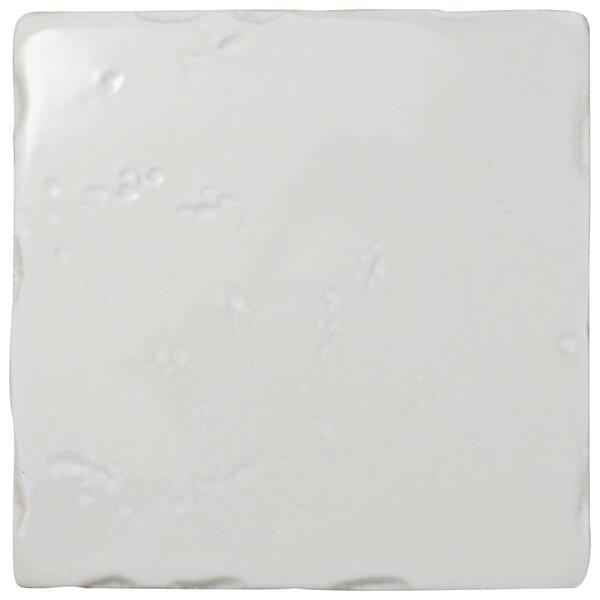 Frisia Square 5.13 x 5.13 Ceramic Field Tile in White by EliteTile