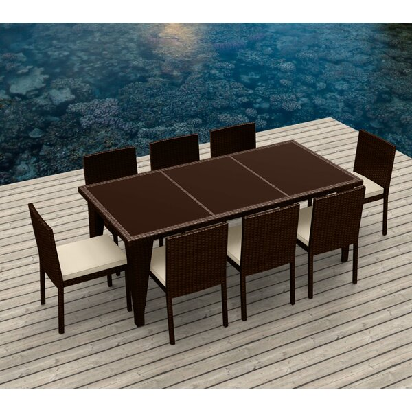 9 Piece Dining Set With Cushions By Urban Furnishings