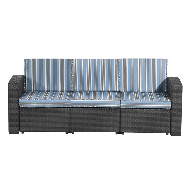 Blanchard Patio Sofa with Cushions by Highland Dunes