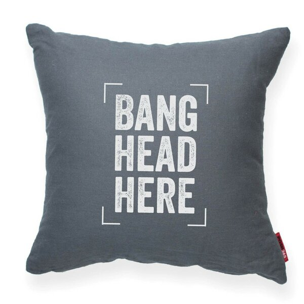 Expressive Bang Head Here Decorative Throw Pillow by Posh365