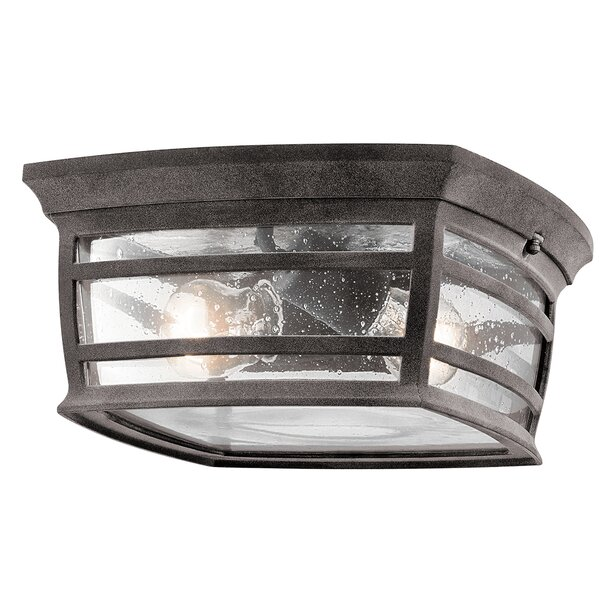 West Elk 2-Light Outdoor Flush Mount by Loon Peak