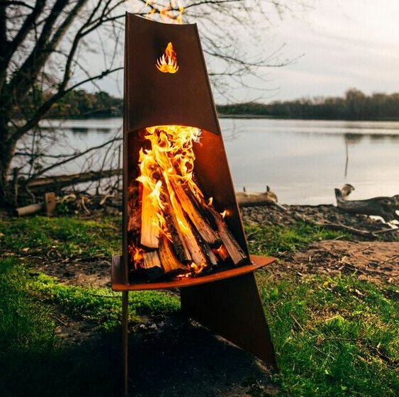 Vesuvious Steel Fire Pit by Fire Pit Art