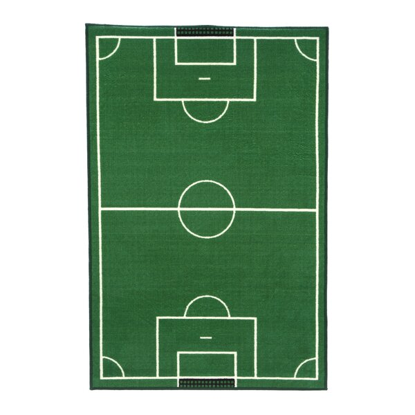 Fun Time Soccer Field Sports Area Rug by Fun Rugs